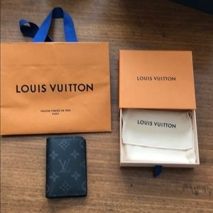 Louis Vuitton Black and gray monogram card wallet